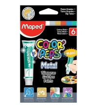 GOUACHE DE 6 COULEUR METAL 15ML MAPED