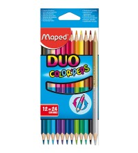 12 CRAYON BICOLORES COLOR'PEPS DUO MAPED