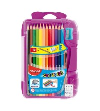 CRAYON COULEUR 12/18 SMART BOX MAPED + ACCESSOIRES MAPED